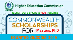 HEC Commonwealth Scholarship 2019