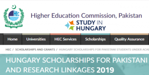 HEC Hungarian Scholarship For Pakistan