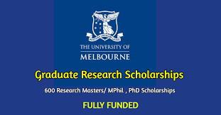 Graduate Research Scholarships For Masters MPhil Doctoral  PhD
