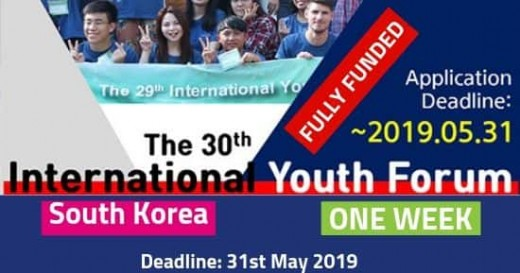 30th International Youth Forum 2019 South Korea