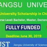 Jiangsu University Scholarship in China 2019