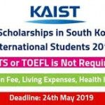 KAIST Scholarships in South Korea For International Students 2019