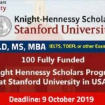 Knight Hennessy Scholarship Program 2020