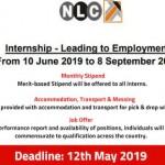 NLC Internship 2019 Leading to Employment