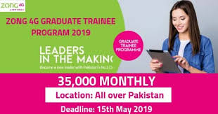 Zong 4G Graduate Trainee Program 2019