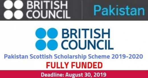 Pakistan Scottish Scholarship Scheme 2019-2020