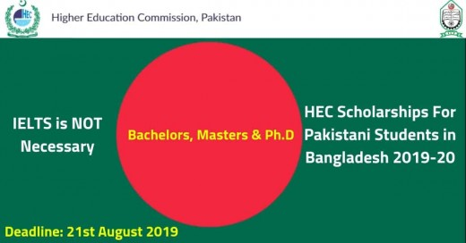 HEC Scholarships For Pakistani Students in Bangladesh