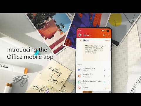 Microsoft 1st Unified Office Android Application