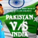 India vs Pakistan Schedule 2012-13