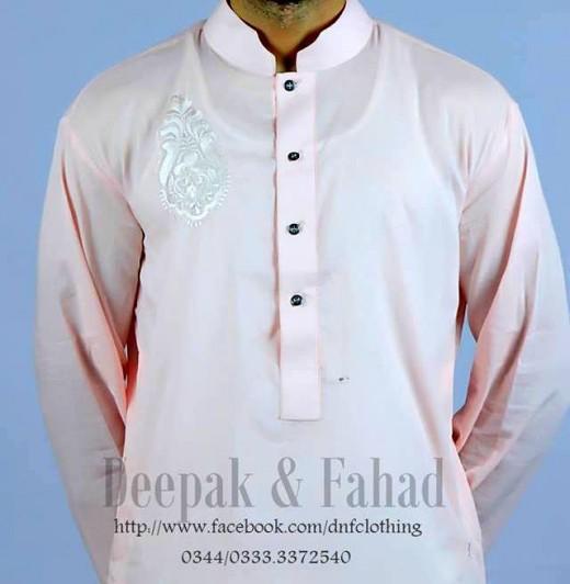 Deepak and Fahad Men Eid Collection 2013 Beautiful Kurta Wallpaper