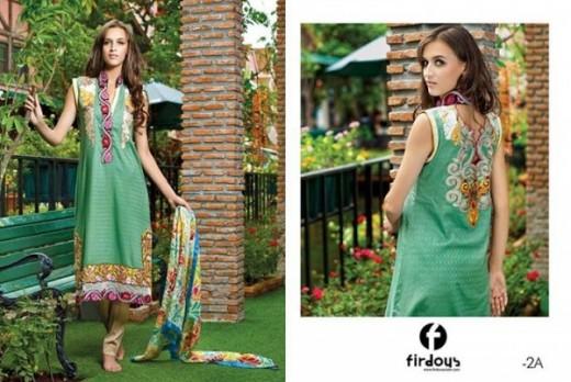 Firdous Latest Eid Lawn Dresses Collection 2013 Wallpaper