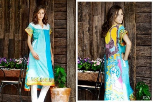Firdous Latest Eid Lawn Dresses Collection 2013 Pic