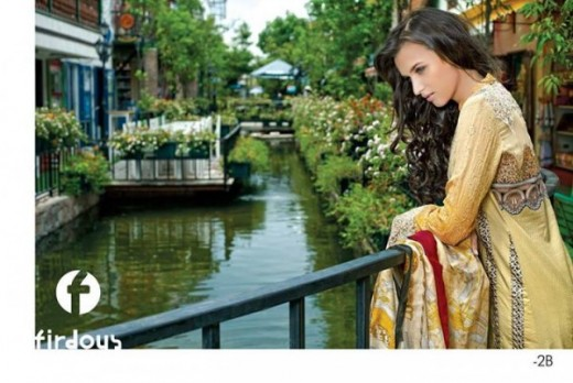 Firdous Latest Eid Lawn Dresses Collection 2013 Photo