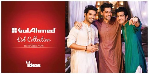 Gul Ahmed Ideas Men and Women Eid Collection 2013 Wallpaper