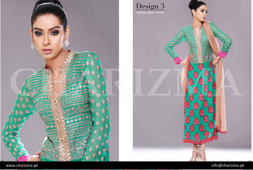 Charizma Chiffon Dresses 2014 For Eid-Ul-Azha