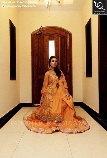 Ayesha And Usman Qamar Women Autumn Dresses 2014