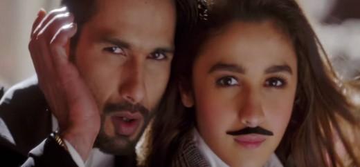 Shahid Kapoor and Aliya Bhatt in Shaandaar