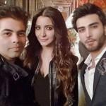 Imran Abbas with Karan Johar and Anushka Sharma in London