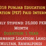Punjab Education Foundation Internships (PEF)