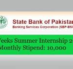 State Bank of Pakistan Internship 2018