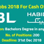 HBL Jobs 2018 For Cash Officers