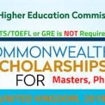 HEC Commonwealth Scholarship 2019