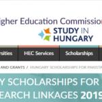 HEC Hungarian Scholarship For Pakistan