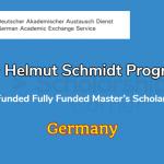 DAAD Helmut Schmidt Scholarship in Germany