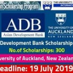 300 Asian Development Bank Scholarship 2020