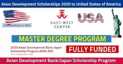 Asian Development Scholarships 2020 [Fully Funded]